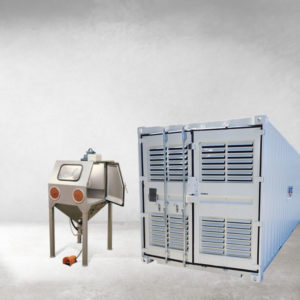 Cabina di sabbiatura / Pallinatrice